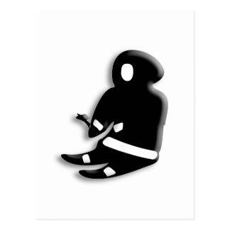 Hombre esquimal que se sienta postales