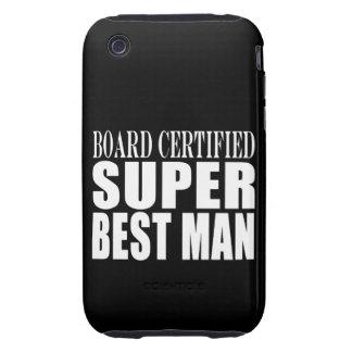 Hombre estupendo certificado tablero del favor de funda though para iPhone 3