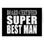 Hombre estupendo certificado tablero del favor de  tarjeta
