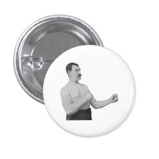 Hombre excesivamente de hombres Meme Pin Redondo De 1 Pulgada