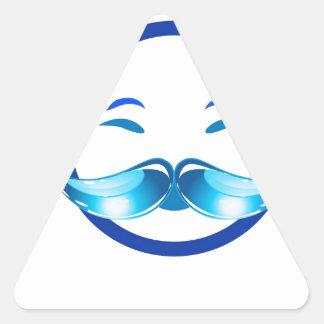 Hombre feliz pegatina triangular