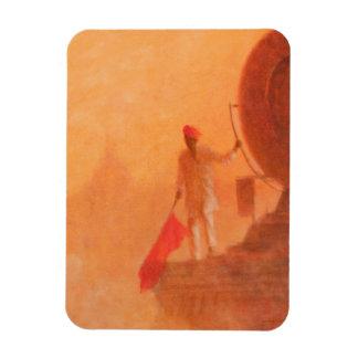Hombre ferroviario Agra 2010 de la bandera Imán