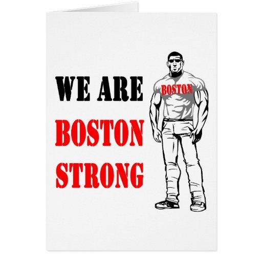 Hombre fuerte de Boston Tarjetas
