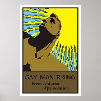 Hombre gay 2 de levantamiento póster