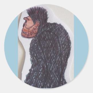 Hombre gigante del mono de Yeti Pegatina Redonda