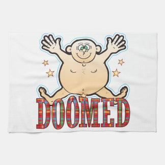 Hombre gordo condenado toallas de mano