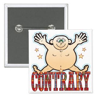 Hombre gordo contrario pin cuadrado
