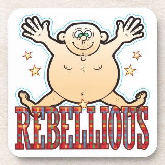 Hombre gordo rebelde posavasos