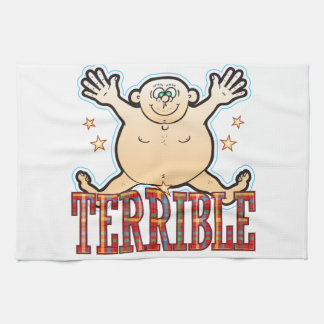 Hombre gordo terrible toalla de cocina