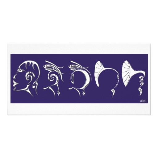 Hombre gramófono (frieze of human phonograph) tarjetas personales