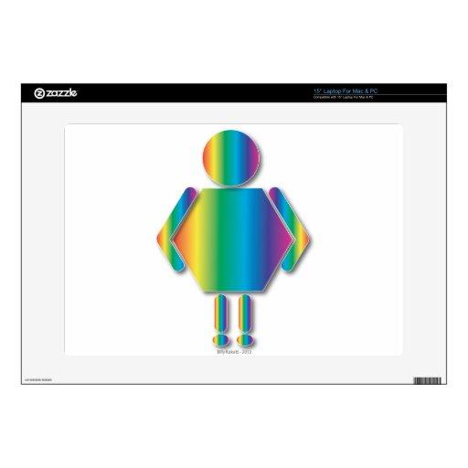 Hombre grande del arco iris skins para portátiles