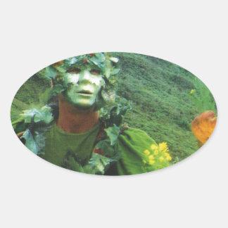 Hombre Greening - renovación Calcomania De Óval Personalizadas