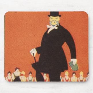 Hombre Gregory Brown del sombrero de copa del jueg Alfombrilla De Ratón