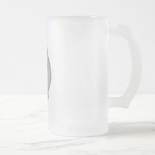 Hombre gris del tenis taza cristal mate
