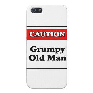 Hombre gruñón de la precaución viejo iPhone 5 carcasas