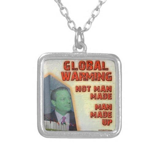Hombre hecho, hombre del calentamiento del planeta grimpolas