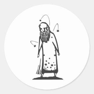 Hombre infestado pegatina redonda