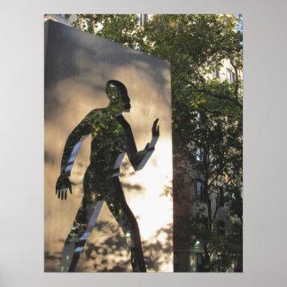 Hombre invisible en el poster de New York City