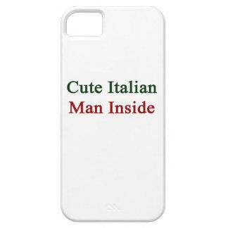 Hombre italiano lindo dentro funda para iPhone 5 barely there