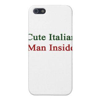 Hombre italiano lindo dentro iPhone 5 fundas