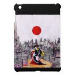 Hombre japonés en un paisaje japonés iPad mini funda