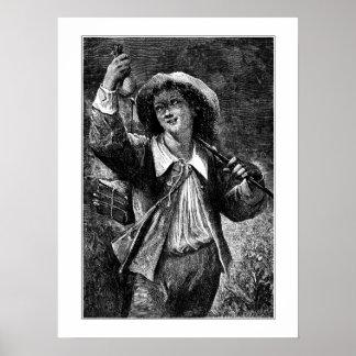 Hombre joven con el monedero posters