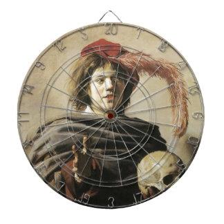 Hombre joven de Francisco Hals con el cráneo Tablero De Dardos