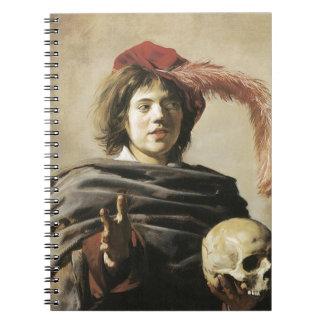 Hombre joven de Francisco Hals con el cráneo Libretas Espirales