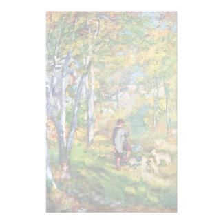 Hombre joven en el bosque de Fontainebleau Papeleria