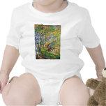 Hombre joven en el bosque de Fontainebleau Traje De Bebé