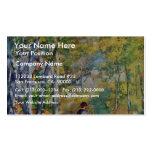 Hombre joven en el bosque de Fontainebleau Tarjetas De Visita
