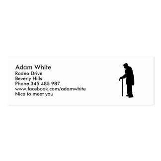 Hombre jubilado pensionista tarjetas de visita mini