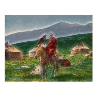 Hombre kazajo tarjetas postales