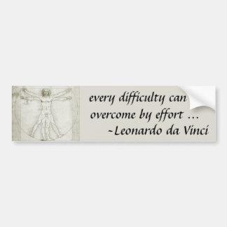 Hombre Leonardo da Vinci arte renacentista de Vit Pegatina De Parachoque