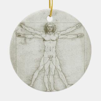 Hombre Leonardo da Vinci arte renacentista de Vit Ornamento De Reyes Magos