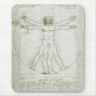 Hombre Leonardo da Vinci arte renacentista de Vit Tapete De Raton