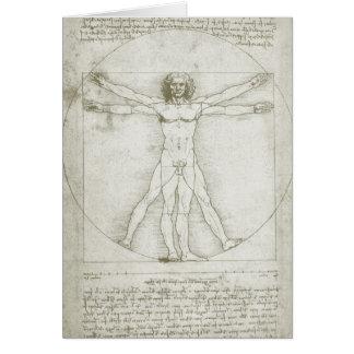 Hombre Leonardo da Vinci arte renacentista de Vit Felicitacion
