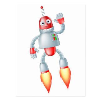 Hombre lindo del robot del vuelo tarjetas postales
