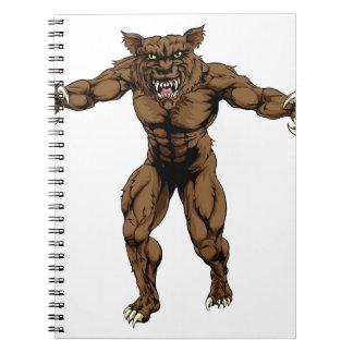 Hombre lobo libros de apuntes