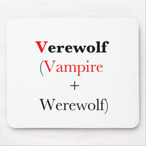 hombre lobo del vampiro del verewolf alfombrillas de ratón
