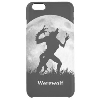 Hombre lobo en la Luna Llena - Halloween fresco Funda Clearly™ Deflector Para iPhone 6 Plus De Unc