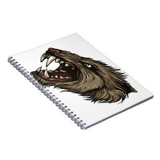 Hombre lobo enojado libretas espirales