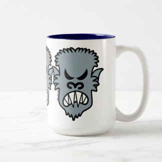 Hombre lobo enojado de Halloween Taza De Café