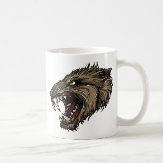 Hombre lobo enojado taza clásica