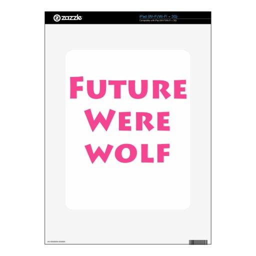 Hombre lobo futuro iPad calcomanía