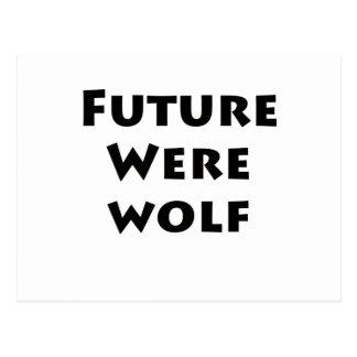 Hombre lobo futuro tarjetas postales