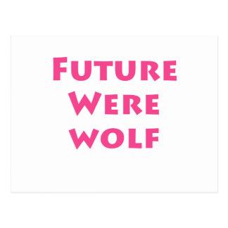 Hombre lobo futuro postal