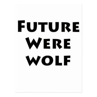 Hombre lobo futuro tarjeta postal