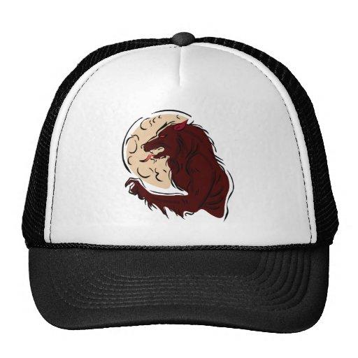 Hombre lobo hambriento gorras