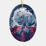 Hombre lobo que rasguña pulgas fantasmagóricas ornamentos de reyes magos